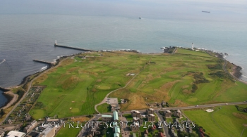 Aerial photography Scotland Aberdeen Balnagask golf course